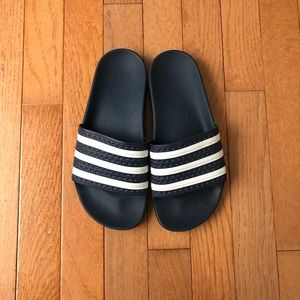 Adidas Navy Blue Adilette Slides
